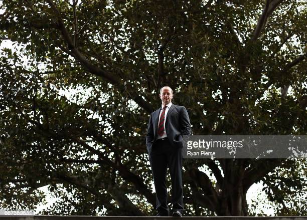South Sydney Rabbitohs Head Coach Michael Maguire poses during a South Sydney Rabbitohs NRL media opportunity at Royal Randwick Racecourse on April...