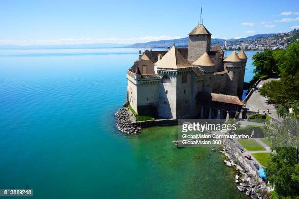 South View of Chillon Castle in Switzerland