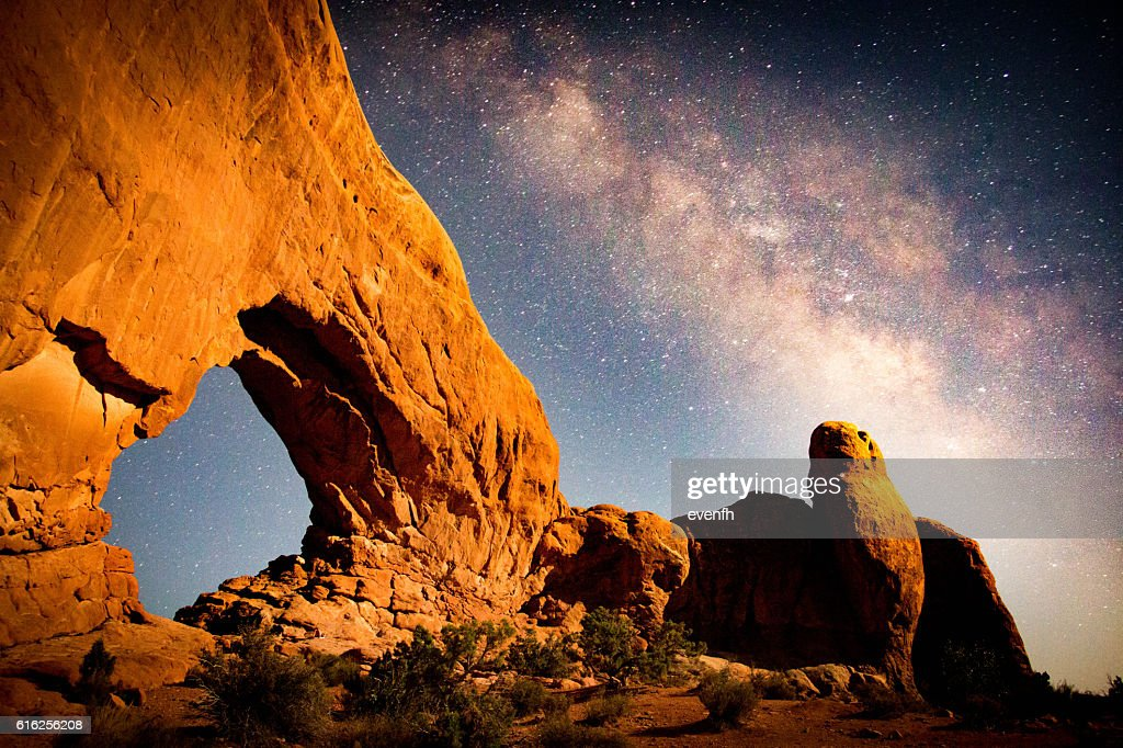 South Window, Parque Nacional de Arches, Utah : Foto de stock
