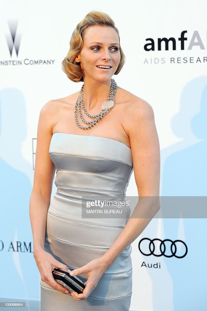 South-African swimmer Charlene L. Wittstock poses while arriving at amfAR's Cinema Against Aids 2010 benefit gala on May 20, 2010 in Antibes, southeastern France.