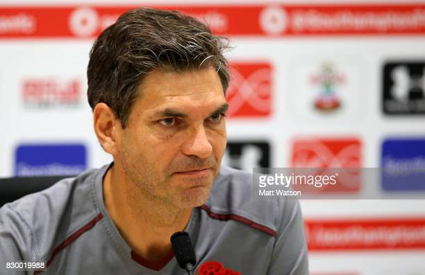 Southampton FC manager Mauricio Pellegrino during a press conference ahead of Southampton's opening game of the season against Swansea at the...