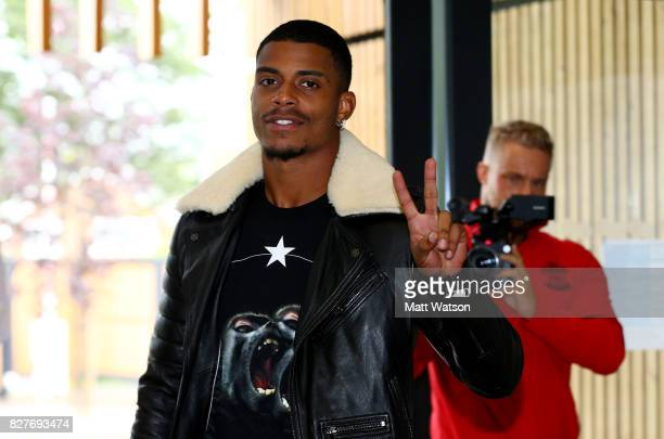 Southampton FC sign Mario Lemina from Juventus on a 5 year contract pictured arriving at the Staplewood Campus on August 8 2017 in Southampton England
