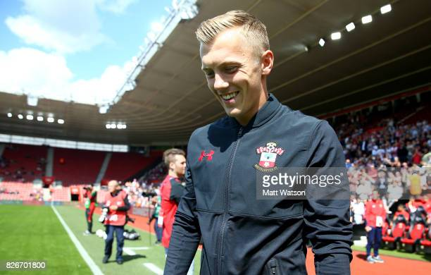 Southampton FC's James WardProwse during the preseason friendly between Southampton FC and Sevilla at St Mary's Stadium on August 5 2017 in...