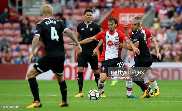 Southampton FC's Manolo Gabbiadini during the preseason friendly between Southampton FC and Sevilla at St Mary's Stadium on August 5 2017 in...