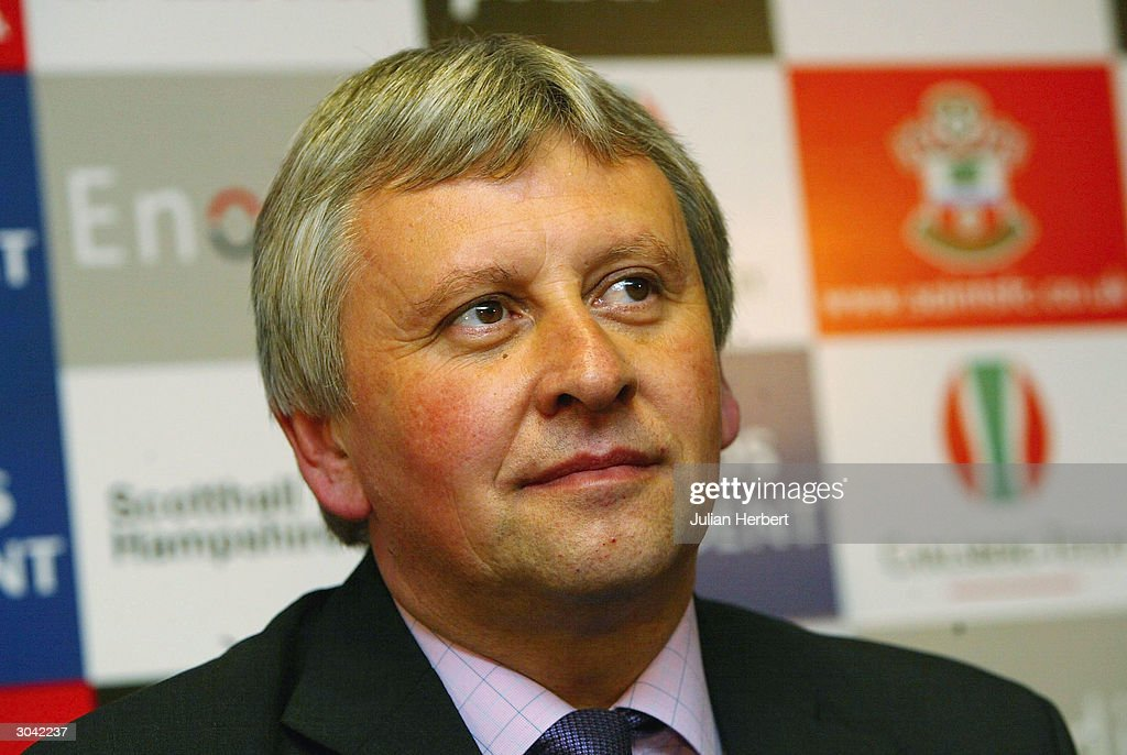 Southampton FC's new manager Paul Sturrock is introduced to the media at a press conference held at St Marys Stadium on March 4 2004 in Southampton...