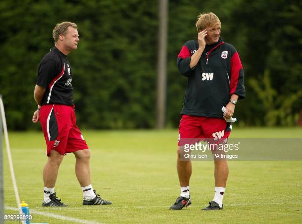 Southampton Football Club's caretaker manager Steve Wigley at the club's training ground near the city after it was announced that manager Paul...