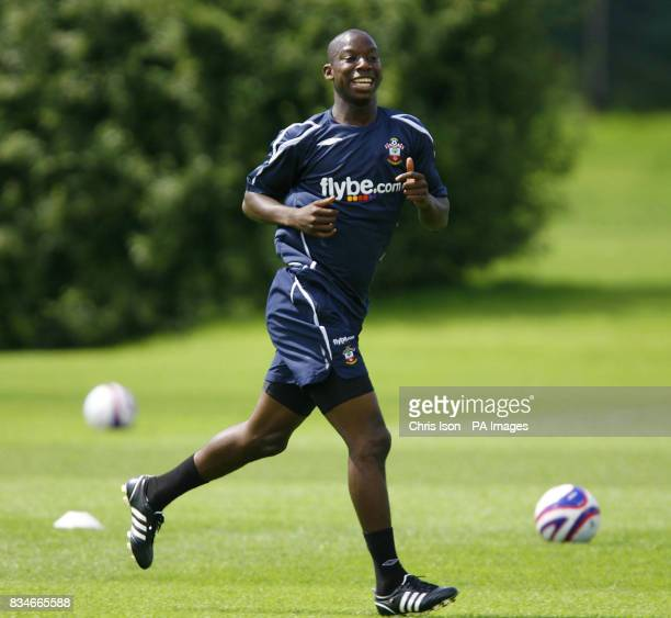 Southampton footballer Bradley WrightPhillips training with teammates at their Staplewood facility in the New Forest