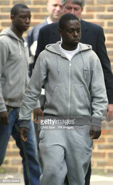 Southampton footballers Nathan Dyer and Bradley WrightPhillips leave Portsmouth Central Police Station where they were charged with burglary after...