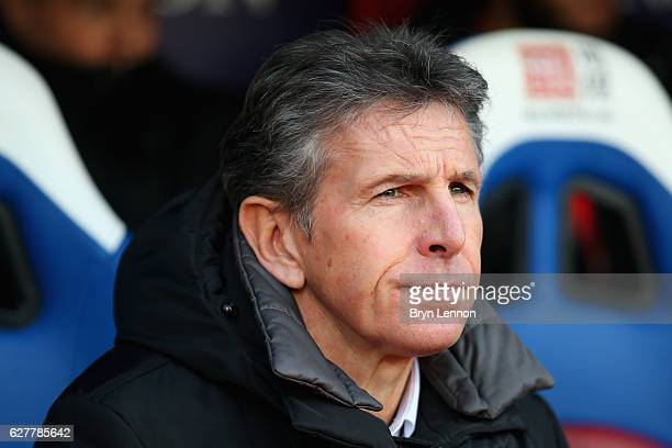 Southampton Manager Claude Puel looks on prior to the Premier League match between Crystal Palace and Southampton at Selhurst Park on December 3 2016...