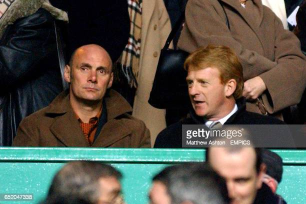 Southampton manager Gordon Strachan watches the game from the stands