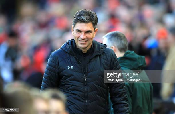 Southampton manager Mauricio Pellegrino ahead of the Premier League match at Anfield Liverpool