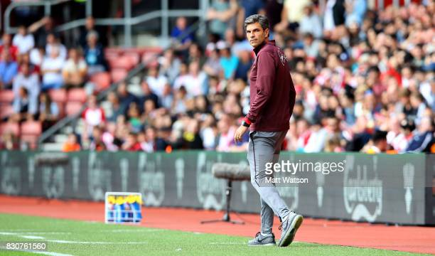 Southampton manager Mauricio Pellegrino during the Premier League match between Southampton and Swansea City at St Mary's Stadium on August 12 2017...