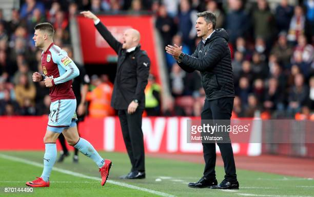 Southampton manager Mauricio Pellegrino during the Premier League match between Southampton and Burnley at St Mary's Stadium on November 4 2017 in...