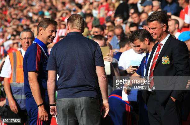 Southampton manager Ronald Koeman and Manchester United manager Louis van Gaal