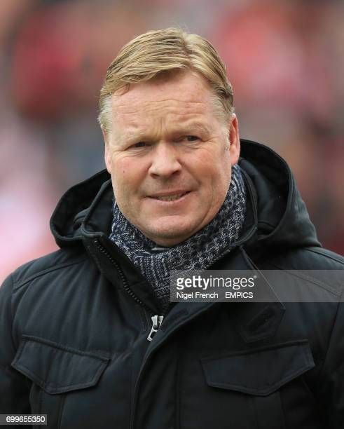 Southampton manager Ronald Koeman before the game against Stoke City