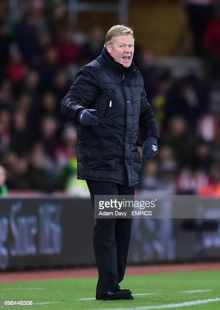 Southampton manager Ronald Koeman gestures from the touchline