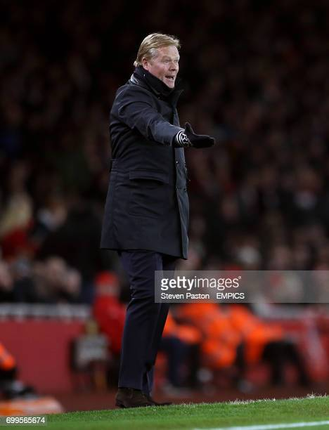 Southampton manager Ronald Koeman gestures on the touchline