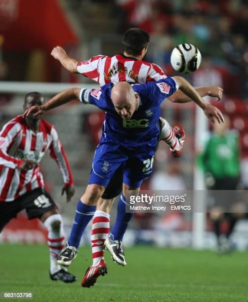 Southampton's Adam Lallana and Birmingham City's Lee Carsley