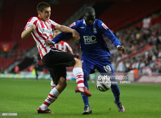 Southampton's Adam Lallana and Birmingham City's Quincy OwusuAbeyie