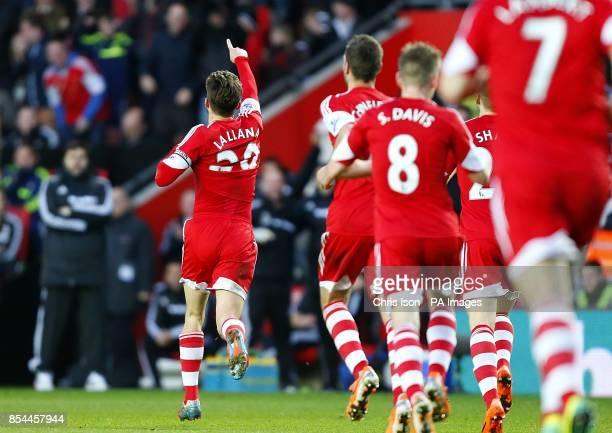 Southampton's Adam Lallana celebrates scoring his teams opening goal