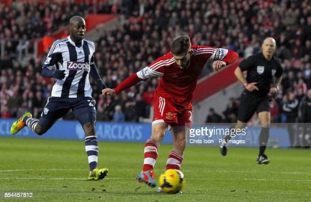 Southampton's Adam Lallana scores his teams opening goal