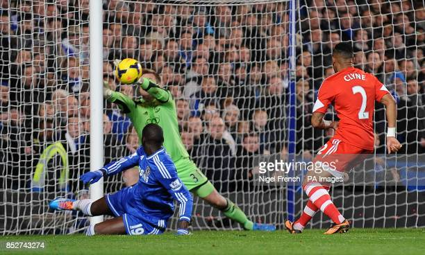 Southampton's Artur Boruc makes a save from Chelsea's Demba Ba Moments later Gary Cahill headed into an empty net to score his sides first goal of...