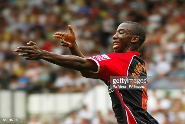 Southampton's Bradley WrightPhillips celebrates after scoring against Derby County during the CocaCola Championship match at Pride Park Derby