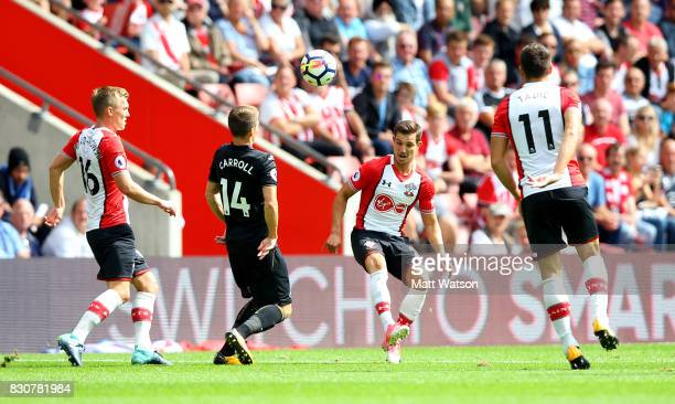 Southampton's Cedric during the Premier League match between Southampton and Swansea City at St Mary's Stadium on August 12 2017 in Southampton...