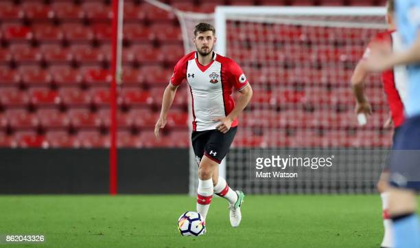 Southampton's Jack Stephens during the Premier League 2 match between Southampton U23 and Newcastle United U23 at St Mary's Stadium on October 16...