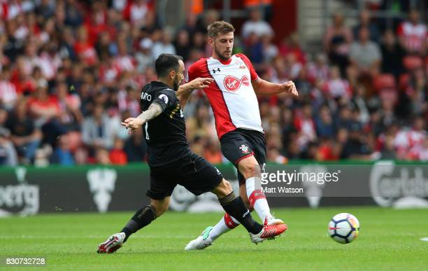Southampton's Jack Stephens during the Premier League match between Southampton and Swansea City at St Mary's Stadium on August 12 2017 in...