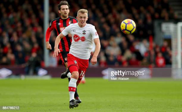 Southampton's James WardProwse during the Premier League match between AFC Bournemouth and Southampton at the Vitality Stadium on December 3 2017 in...