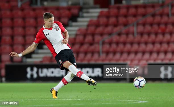 Southampton's Jan Bednarek during the Premier League 2 match between Southampton U23 and Newcastle United U23 at St Mary's Stadium on October 16 2017...