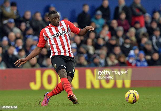 Southampton's Kenyan midfielder Victor Wanyama passes the ball during the English Premier League football match between Queens Park Rangers and...