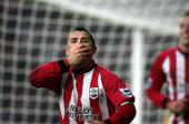 Southampton's Kevin Phillips reacts to scoring the opening goal against Middlesbrough during the Premiership match at St Mary's Stadium in...