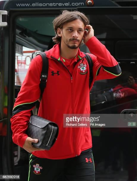 Southampton's Manolo Gabbiadini arrives at the Riverside Stadium during the Premier League match at the Riverside Stadium Middlesbrough