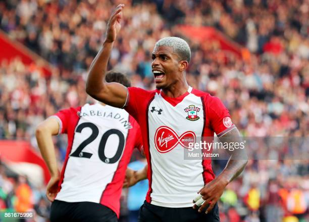 Southamptonâs Mario Lemina during the Premier League match between Southampton and Newcastle United at St Mary's Stadium on October 15 2017 in...