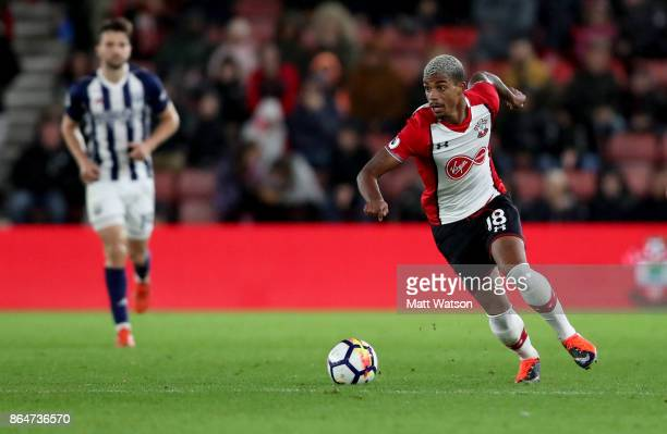 Southampton's Mario Lemina during the Premier League match between Southampton and West Bromwich Albion at St Mary's Stadium on October 21 2017 in...