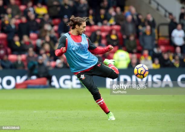 Southampton's Martin Caceres during EPL Premier League match between Watford against Southampton at Vicarage Road Watford Britain 04 Mar 2017
