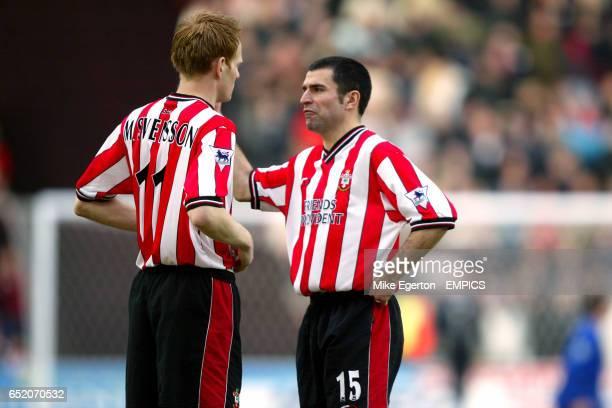 Southampton's Michael Svensson and Francis Benali discuss the match