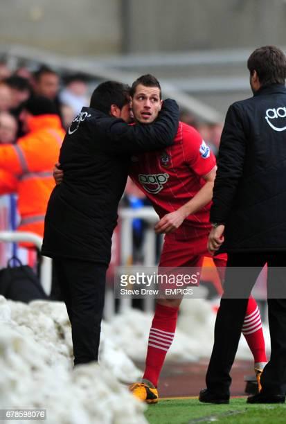 Southampton's Morgan Schneiderlin celebrates scoring his sides X goal of the game scoring his sides first goal of the game
