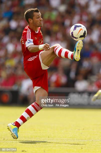 Southampton's Morgan Schneiderlin scores during the Preseason Friendly against Real Sociedad at St Mary's Stadium Southampton