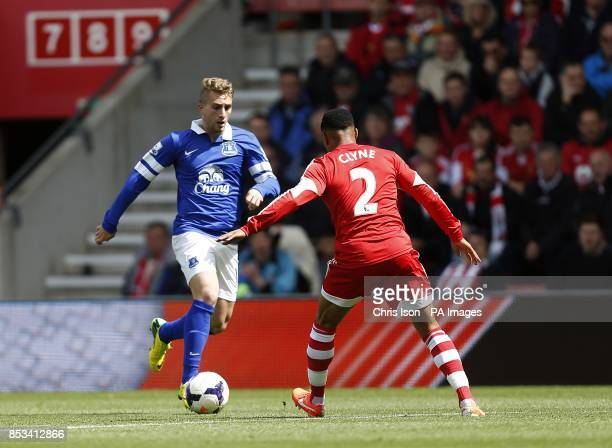Southampton's Nathaniel Clyne and Everton's Gerard Deulofeu