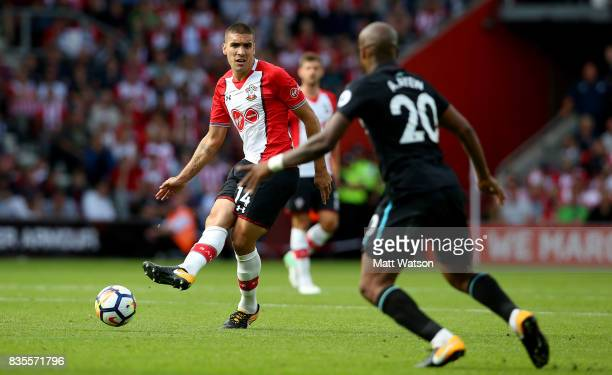 Southampton's Oriol Romeu during the Premier League match between Southampton and West Ham United at St Mary's Stadium on August 19 2017 in...