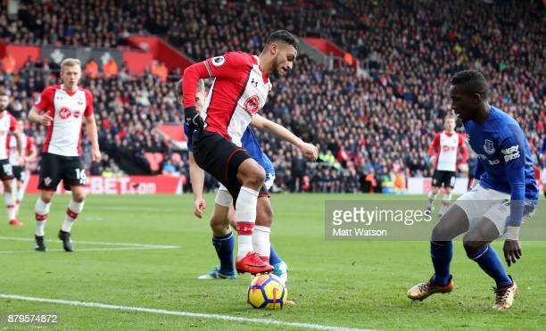 Southampton's Sofiane Boufal during the Premier League match between Southampton and Everton at St Mary's Stadium on November 26 2017 in Southampton...