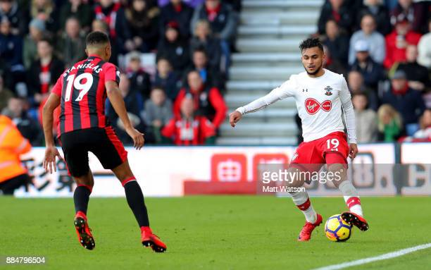 Southampton's Sofiane Boufal during the Premier League match between AFC Bournemouth and Southampton at the Vitality Stadium on December 3 2017 in...
