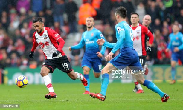 Southampton's Sofiane Boufal during the Premier League match between Southampton and Arsenal at St Mary's Stadium on December 10 2017 in Southampton...