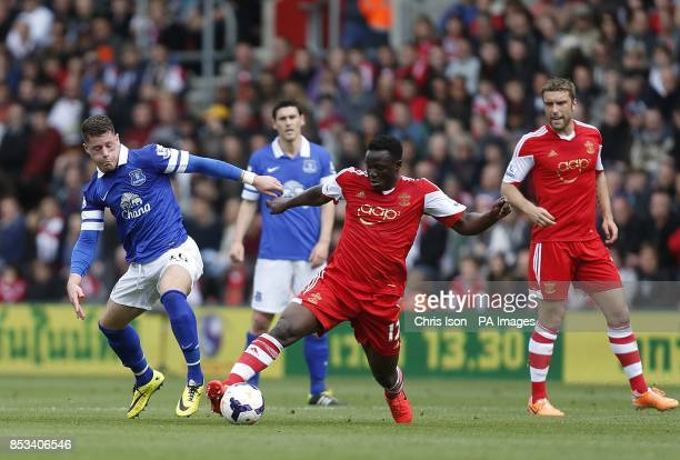 Southampton's Victor Wanyama and Everton's Ross Barkley battle for the ball