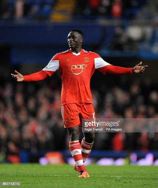 Southampton's Victor Wanyama reacts during the game