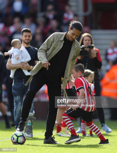 Southampton's Virgil van Dijk after the final whistle during the Premier League match at St Mary's Stadium Southampton