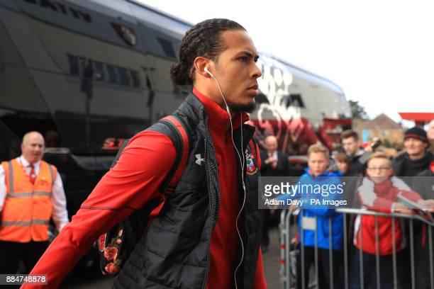 Southampton's Virgil van Dijk before the Premier League match at the Vitality Stadium Bournemouth